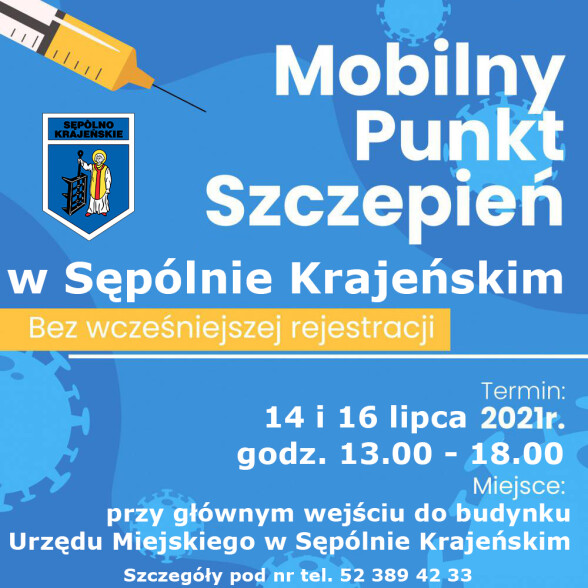 sepolno-plakat mobilny punkt szczepień